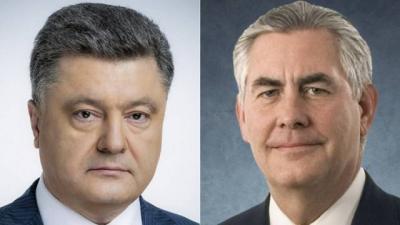 Порошенко и Тиллерсон обсудили российско-американские переговоры